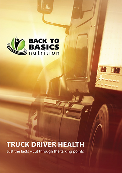 Nutrition for truck drivers